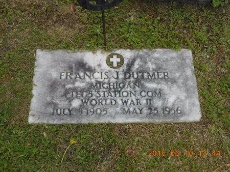 DUTMER, FRANCIS J. - Marquette County, Michigan | FRANCIS J. DUTMER - Michigan Gravestone Photos