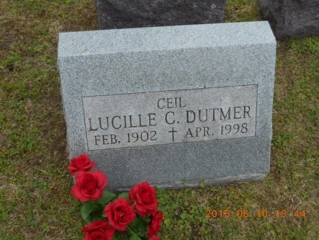DUTMER, LUCILLE C. - Marquette County, Michigan | LUCILLE C. DUTMER - Michigan Gravestone Photos