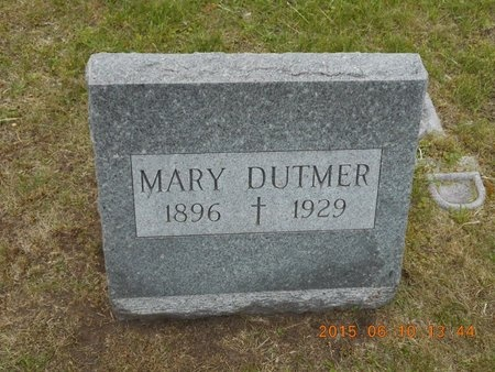 DUTMER, MARY - Marquette County, Michigan | MARY DUTMER - Michigan Gravestone Photos