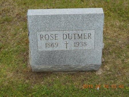 DUTMER, ROSE - Marquette County, Michigan   ROSE DUTMER - Michigan Gravestone Photos
