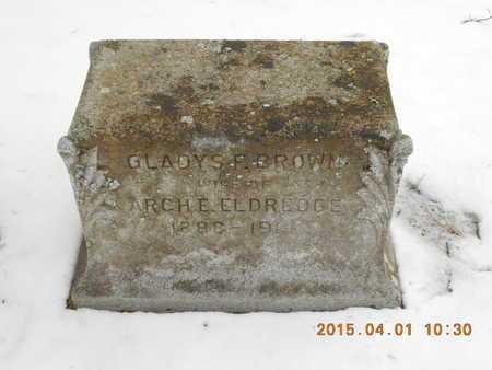 BROWN ELDREDGE, GLADYS FRANCES - Marquette County, Michigan | GLADYS FRANCES BROWN ELDREDGE - Michigan Gravestone Photos