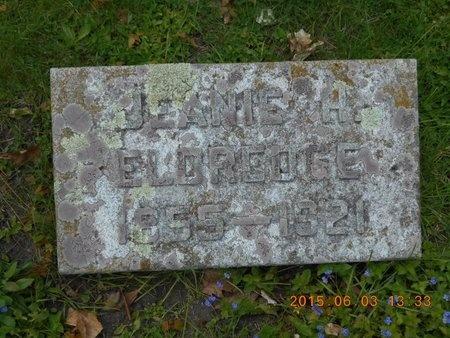 ELDREDGE, JEANIE H. - Marquette County, Michigan   JEANIE H. ELDREDGE - Michigan Gravestone Photos
