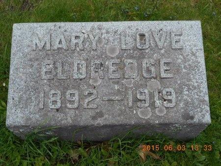 ELDREDGE, MARY - Marquette County, Michigan | MARY ELDREDGE - Michigan Gravestone Photos