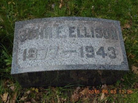 ELLISON, JOHN E. - Marquette County, Michigan   JOHN E. ELLISON - Michigan Gravestone Photos