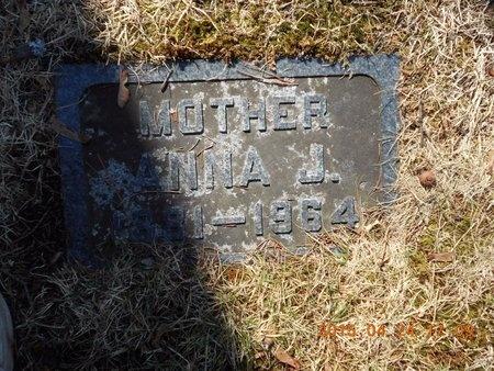 ERICKSON, ANNA J. - Marquette County, Michigan   ANNA J. ERICKSON - Michigan Gravestone Photos