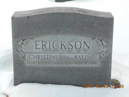 ERICKSON, CHRISTINE - Marquette County, Michigan   CHRISTINE ERICKSON - Michigan Gravestone Photos