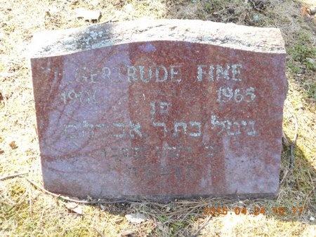 FINE, GERTRUDE - Marquette County, Michigan | GERTRUDE FINE - Michigan Gravestone Photos