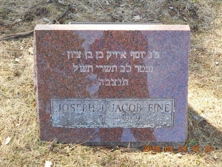 FINE, JOSEPH JACOB - Marquette County, Michigan | JOSEPH JACOB FINE - Michigan Gravestone Photos