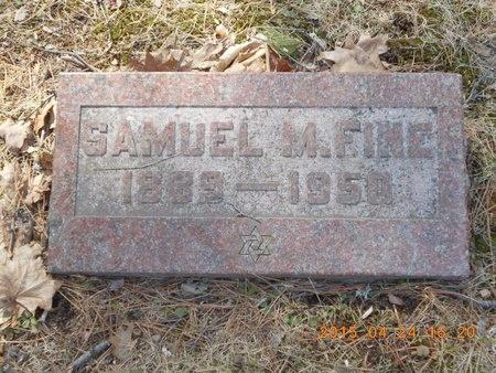 FINE, SAMUEL N. - Marquette County, Michigan   SAMUEL N. FINE - Michigan Gravestone Photos
