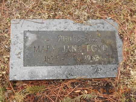 FORD, MARY JANE - Marquette County, Michigan | MARY JANE FORD - Michigan Gravestone Photos