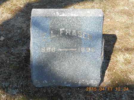 FRASER, E.L. - Marquette County, Michigan   E.L. FRASER - Michigan Gravestone Photos