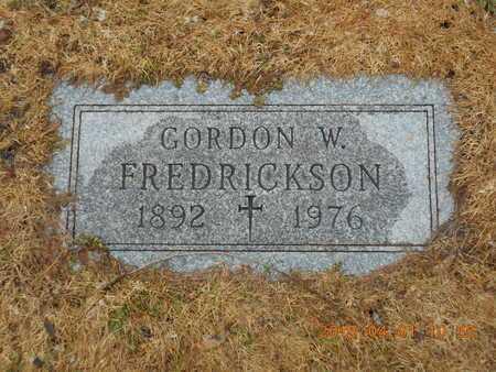 FREDRICKSON, GORDON W. - Marquette County, Michigan | GORDON W. FREDRICKSON - Michigan Gravestone Photos