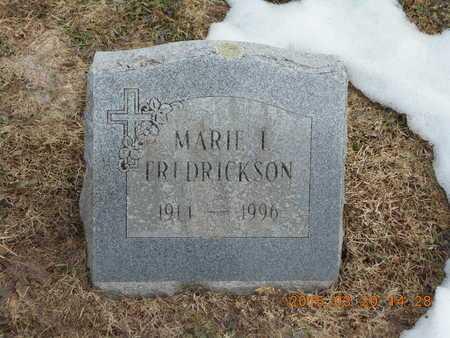 FREDRICKSON, MARIE I. - Marquette County, Michigan   MARIE I. FREDRICKSON - Michigan Gravestone Photos