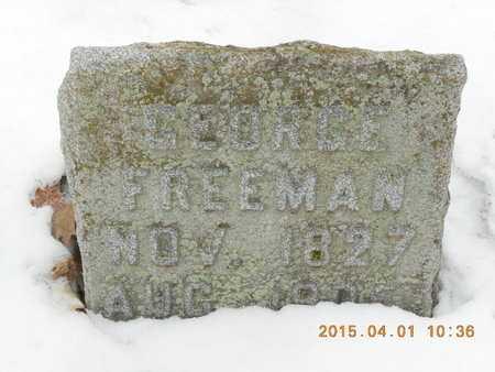 FREEMAN, GEORGE - Marquette County, Michigan   GEORGE FREEMAN - Michigan Gravestone Photos