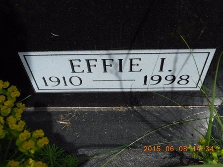 FROLING, EFFIE I. - Marquette County, Michigan | EFFIE I. FROLING - Michigan Gravestone Photos