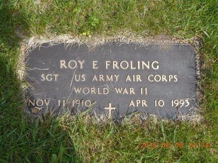 FROLING, ROY E. - Marquette County, Michigan | ROY E. FROLING - Michigan Gravestone Photos