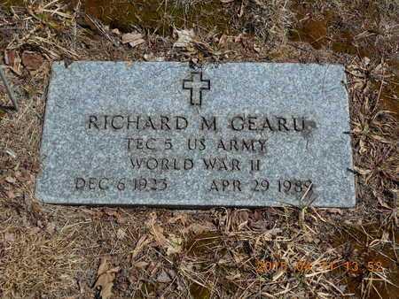 GEARU, RICHARD M. - Marquette County, Michigan | RICHARD M. GEARU - Michigan Gravestone Photos