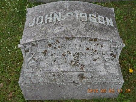 GIBSON, JOHN - Marquette County, Michigan   JOHN GIBSON - Michigan Gravestone Photos