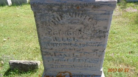 GINGRASS, SOPHIA VICTORIA - Marquette County, Michigan | SOPHIA VICTORIA GINGRASS - Michigan Gravestone Photos