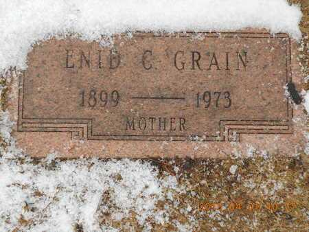 GRAIN, ENID C. - Marquette County, Michigan | ENID C. GRAIN - Michigan Gravestone Photos