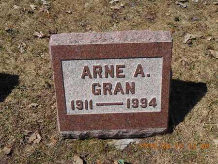 GRAN, ARNE A. - Marquette County, Michigan | ARNE A. GRAN - Michigan Gravestone Photos