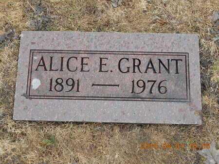 GRANT, ALICE E. - Marquette County, Michigan   ALICE E. GRANT - Michigan Gravestone Photos