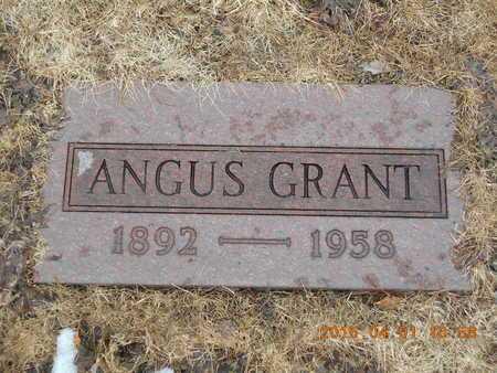 GRANT, ANGUS - Marquette County, Michigan   ANGUS GRANT - Michigan Gravestone Photos