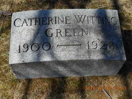 GREEN, CATHERINE - Marquette County, Michigan | CATHERINE GREEN - Michigan Gravestone Photos
