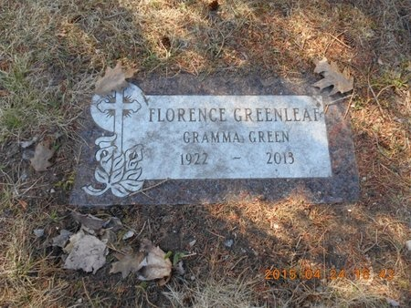 GREENLEAF, FLORENCE - Marquette County, Michigan | FLORENCE GREENLEAF - Michigan Gravestone Photos