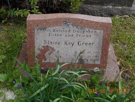 GREER, JILAINE KAY - Marquette County, Michigan   JILAINE KAY GREER - Michigan Gravestone Photos