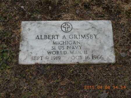 GRIMSBY, ALBERT A. - Marquette County, Michigan | ALBERT A. GRIMSBY - Michigan Gravestone Photos