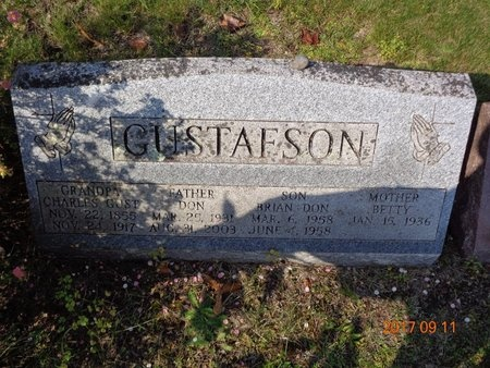 GUSTAFSON, CHARLES AUGUST - Marquette County, Michigan | CHARLES AUGUST GUSTAFSON - Michigan Gravestone Photos