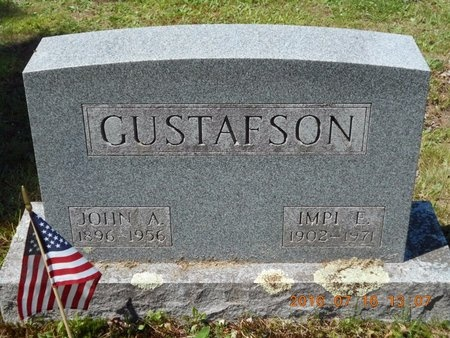 GUSTAFSON, JOHN A. - Marquette County, Michigan | JOHN A. GUSTAFSON - Michigan Gravestone Photos