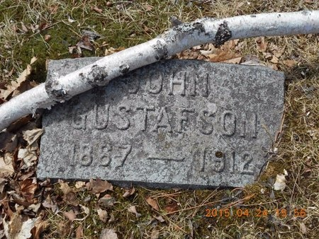 GUSTAFSON, JOHN - Marquette County, Michigan | JOHN GUSTAFSON - Michigan Gravestone Photos
