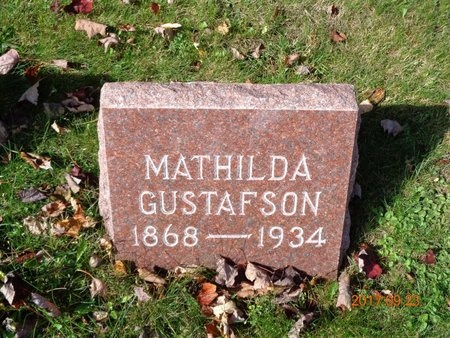 GUSTAFSON, MATHILDA - Marquette County, Michigan   MATHILDA GUSTAFSON - Michigan Gravestone Photos