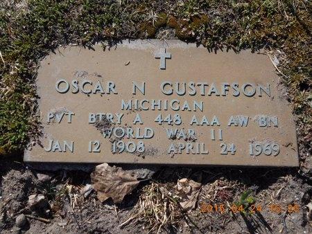 GUSTAFSON, OSCAR N. - Marquette County, Michigan | OSCAR N. GUSTAFSON - Michigan Gravestone Photos