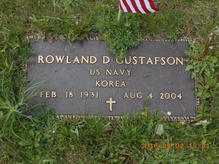 GUSTAFSON, ROWLAND DALE - Marquette County, Michigan | ROWLAND DALE GUSTAFSON - Michigan Gravestone Photos