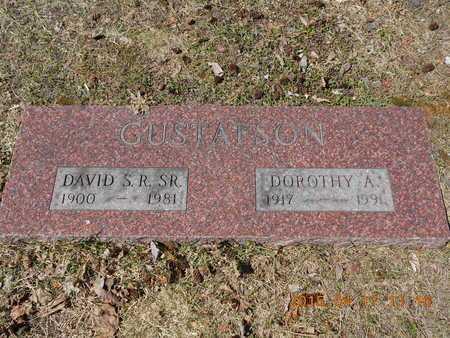 GUSTAFSON, SR., DAVID S.R. - Marquette County, Michigan | DAVID S.R. GUSTAFSON, SR. - Michigan Gravestone Photos