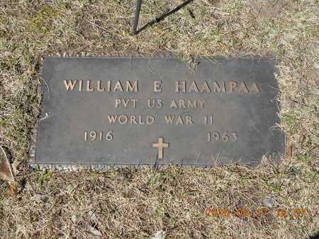 HAAMPAA, WILLIAM E. - Marquette County, Michigan   WILLIAM E. HAAMPAA - Michigan Gravestone Photos