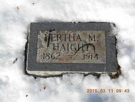 HAIGHT, BERTHA M. - Marquette County, Michigan | BERTHA M. HAIGHT - Michigan Gravestone Photos