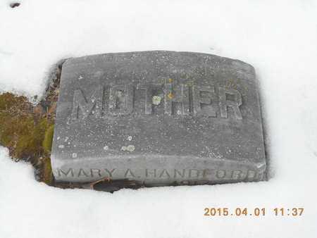 HANDFORD, MARY A. - Marquette County, Michigan   MARY A. HANDFORD - Michigan Gravestone Photos
