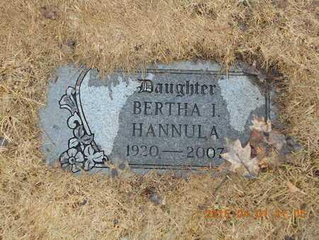 HANNULA, BERTHA J. - Marquette County, Michigan   BERTHA J. HANNULA - Michigan Gravestone Photos