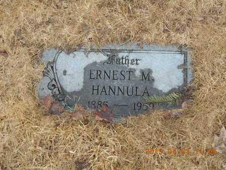 HANNULA, ERNEST M. - Marquette County, Michigan   ERNEST M. HANNULA - Michigan Gravestone Photos