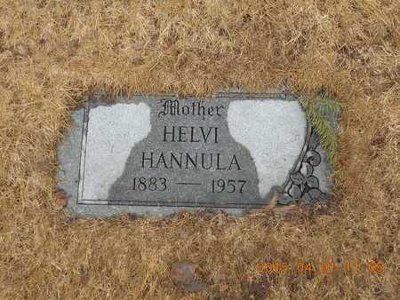 HANNULA, HELVI - Marquette County, Michigan   HELVI HANNULA - Michigan Gravestone Photos