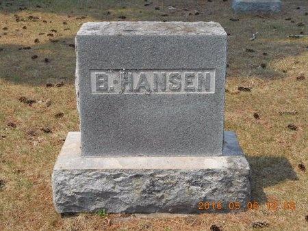HANSEN, BERNHARD - Marquette County, Michigan   BERNHARD HANSEN - Michigan Gravestone Photos
