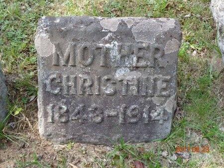 HANSEN, CHRISTINE - Marquette County, Michigan | CHRISTINE HANSEN - Michigan Gravestone Photos