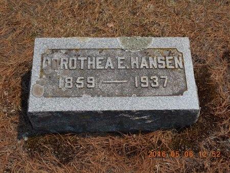HANSEN, DOROTHEA E. - Marquette County, Michigan   DOROTHEA E. HANSEN - Michigan Gravestone Photos