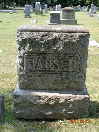 HANSEN, FAMILY - Marquette County, Michigan   FAMILY HANSEN - Michigan Gravestone Photos