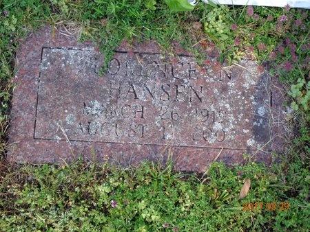 HANSEN, FLORENCE N. - Marquette County, Michigan | FLORENCE N. HANSEN - Michigan Gravestone Photos