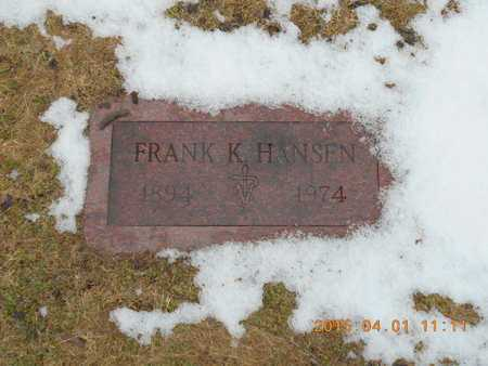 HANSEN, FRANK K. - Marquette County, Michigan | FRANK K. HANSEN - Michigan Gravestone Photos
